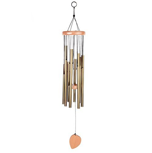 "BEAUTIFUL WIND CHIMES - Tuned 28"" Wood Windchimes Deliver Rich, Full, Relaxing Tones - Best Large Wooden Wind Chime For Outdoor Patio - Music To Your Ears - SATISFACTION GUARANTEE (28"", 8 tubes)"
