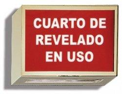 Illuminated Darkroom Sign - Darkroom In Use - Spanish