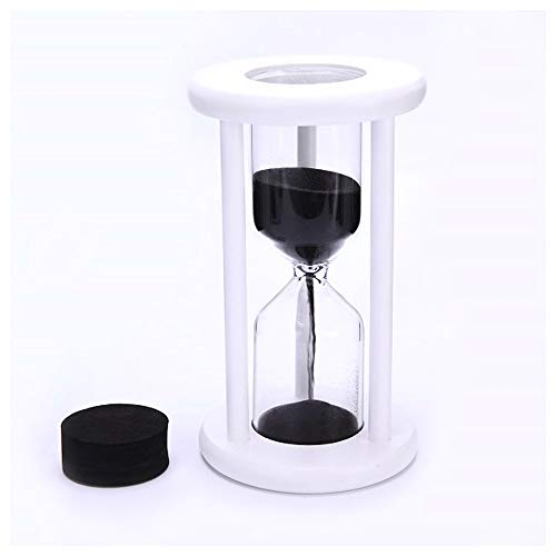 Florawang White Wood Sand Glass Hourglass Decoraton,Empty,Put Your Wedding Ceremony Sand]()