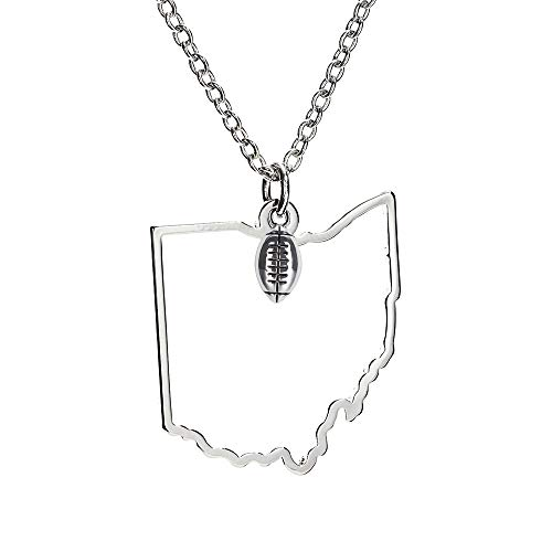 GIMMEDAT State of Mine: Ohio Football Silver Necklace ()