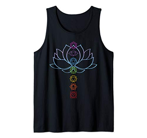 (Spiritual Zen Lotus Flower Chakras Aligned Yoga Lover Tank Top)