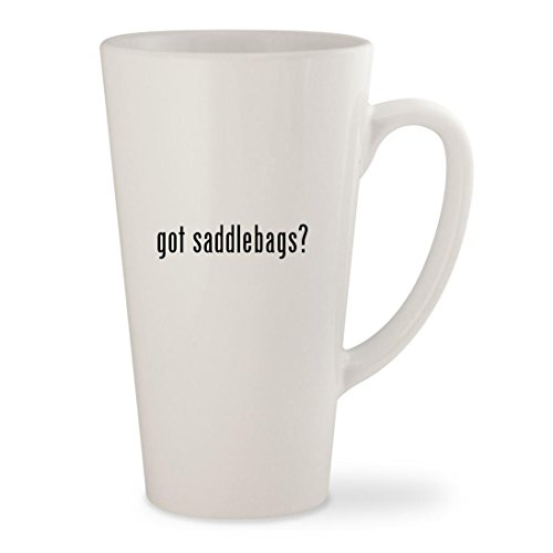 Corbin Leather Saddle (got saddlebags? - White 17oz Ceramic Latte Mug Cup)
