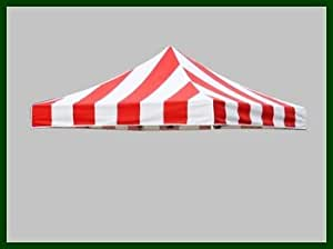 Gazebo Replacement Canopy Top for 3 x 3 Pop up Gazebo Commercial Marquee Tent, 19 Colors Select (Stripe Red/White)