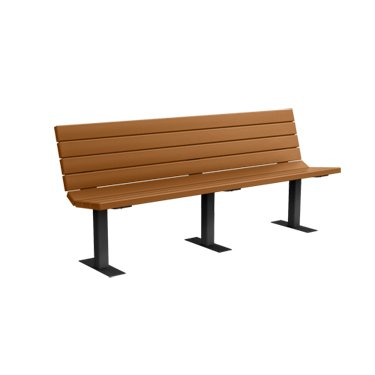 6' Recycled Plastic Champion Bench - Surface Mount - Cedar (6' Recycled Plastic Table)