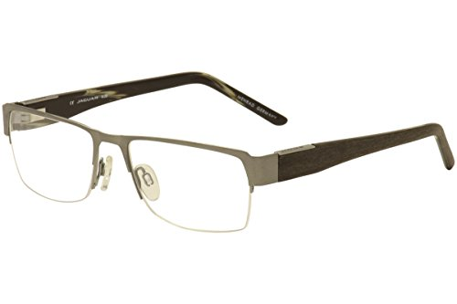 Jaguar Men's Eyeglasses 39338 650 Matte Gunmetal Half Rim Optical Frames - Jaguar Frames Eyeglass