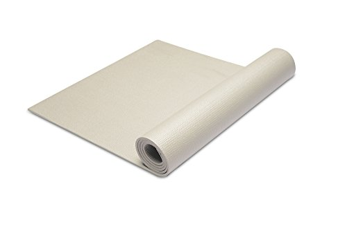 Yoga Mat - Eco Friendly Workout Exercise MatAnti-tear Hot Pilates Pad Mats in Home & Gym And Outdoor - 6mm Thick Non Slip By MorningLife(Elegant grey)