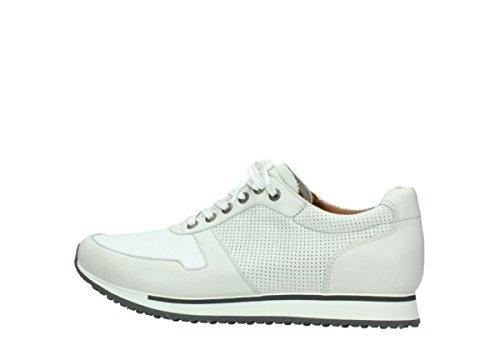 Confort Blanc E walk Comfort Men 20120 Cassé Chaussures Cuir Extensible Wolky FqH4az