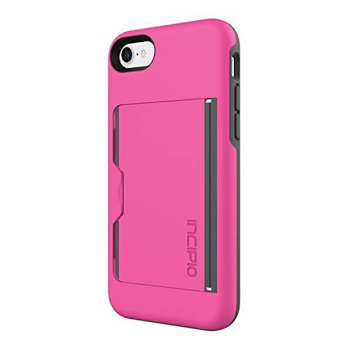 Incipio IPH-1477-PKC Stowaway for iPhone 8 & iPhone 7 - Pink/Charcoal (Incipio Stowaway Case For Iphone 6 Plus)