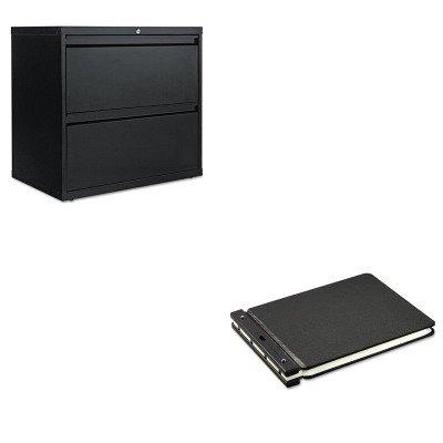 KITALELF3029BLWLJ24140N - Value Kit - Wilson Jones Raven Vinyl-Guarded Post Binder (WLJ24140N) and Best Two-Drawer Lateral File Cabinet (ALELF3029BL)