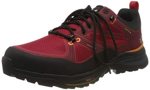 Zapatos de senderismo de tiro alto para hombre Jack Wolfskin, bajo, rojo rojo naranja 2137, us 7.5