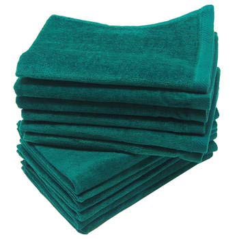 Fingertip Towel 11x18 Fringed - 3-Pack Terry Velour Hand Towels 100% Cotton, 11