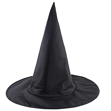 WANGLAI Halloween Gorro de Bruja Halloween Spoof Disfraz Props Punta  Sombrero Halloween Fiesta 196dbb99aba