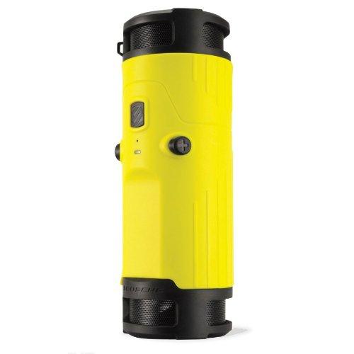 SCOSCHEBTBTLY boomBOTTLE Weatherproof Wireless Portable Speaker - Retail Packaging - Yellow/Black by Scosche