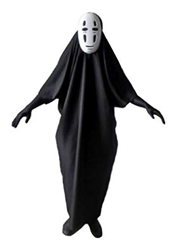 Fuji shop Away No face Male Cosplay Masks-Gloves Halloween Party Costume (L, Black)