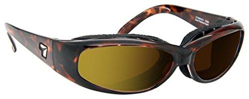 7eye SharpView Chubasco Sunglasses, Tortoise Dark Frame, Polarized Copper Lens, Small/Large