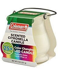 Coleman Color Changing LED Citronella Scented Candle - Buy Packs and SAVE (Pack of 4)