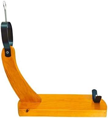 Loubren Ham-01 Soporte Jamonero Gondola con Cuchillo y Chaira, Base Jamonero 40x17, Tabla Color Miel Lacado