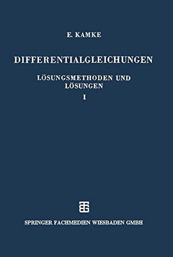Differentialgleichungen, Bd.1, Gewöhnliche Differentialgleichungen