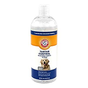 Arm & Hammer Dog Dental Care Dental Tartar Control Water Additive for Dogs | Reduces Plaque & Tartar Buildup Without Brushing, 16 ounces, Odorless and Flavorless 70
