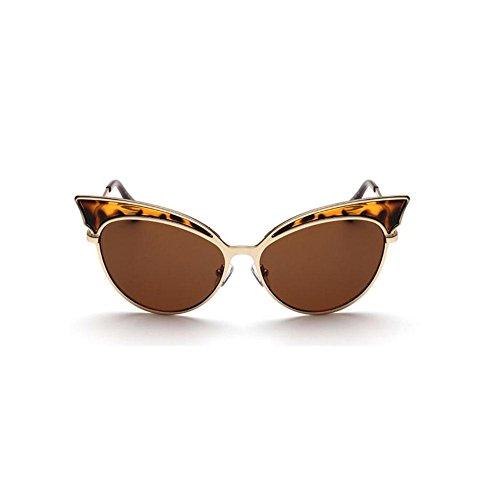 Z&YQ Occhiali da sole per occhiali da sole tendenza Vintage Style Metal Frame Occhiali da guida unisex , B