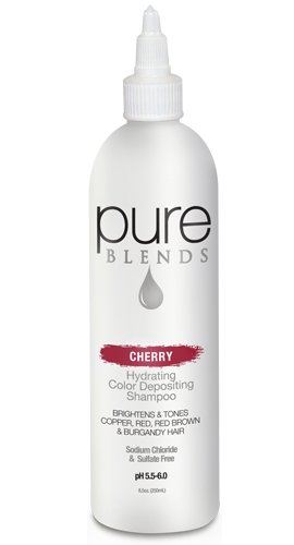 Pure Blends Hydrating Color Depositing Shampoo, 8.5 oz., Cherry (Red, Red-Brown, Burgundy Tones) (250 Brown Cherry)