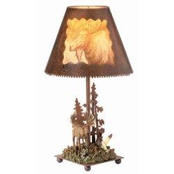Vc Table Lamp (Moose Rustic Lamp)