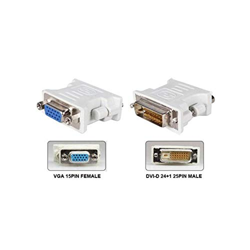 DVI D Male To VGA Female Socket Adapter Converter VGA to DVI//24+1 Pin Male to VGA Female Adapter Converter-Black-1 Size