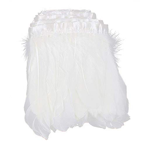 AWAYTR Duck Goose Feather Trim Fringe 2 Yards