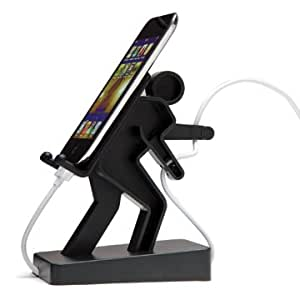 Boris Cell Mate Mount Stand Holder Music Player For Mobile Phones - Black
