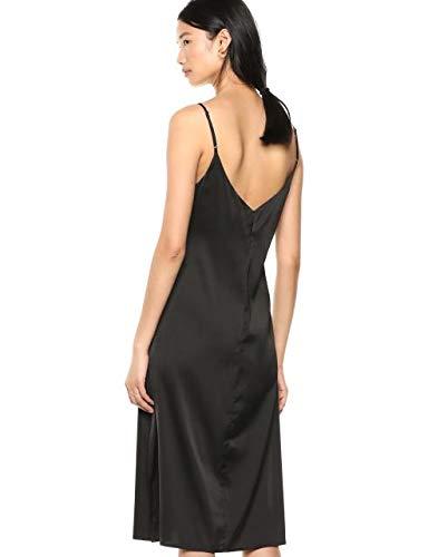 The-Drop-Ana-Vestido-de-estilo-lencero-de-largo-medio-y-efecto-de-seda-con-cuello-de-pico-Mujer