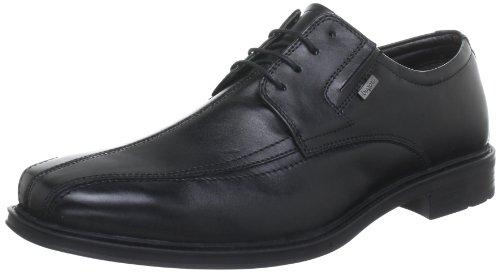 Bugatti T2107S1 - Zapatos de cordones de cuero para hombre Negro (Schwarz (schwarz 100))