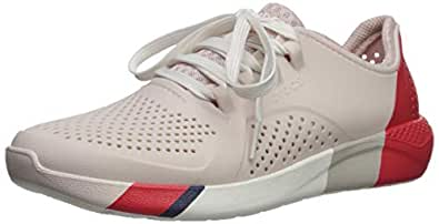 Crocs Women's LiteRide Graphic Pacer Shoe, Barely Pink/White, W4