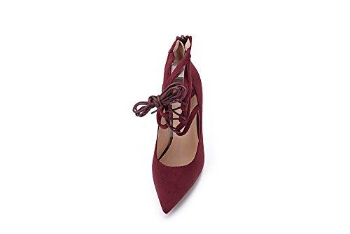Mila Dame Ether21 Dorsay Strappy Cheville Élégance Plate-forme Dame À Talons Pompes Chaussures! Vin10
