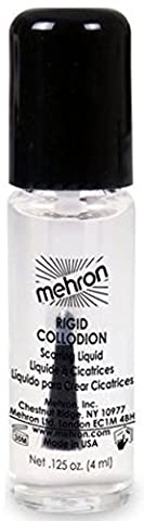 Mehron Makeup Rigid Collodion Scarring Liquid for Special Effects| Halloween| Movies- .125oz (Cheap Special Effects Makeup)