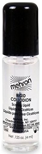 Mehron Makeup Rigid Collodion Scarring Liquid for Special Effects| Halloween| Movies- .125oz