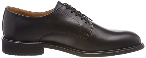Leather SELECTED Stringate Shdbaxter Black Nero Scarpe Derby Uomo Shoe Noos 55UTnxqF