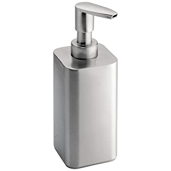 InterDesign Gia Stainless Steel Soap U0026 Lotion Dispenser, For Kitchen Or  Bathroom Countertops   Brushed