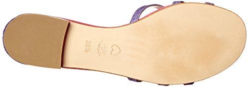 Boutique Moschino Moschino Cheap And Chic Sandalia De Vestir Plana Para Mujer Rosa / Violeta