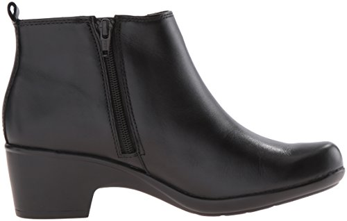 Clarks Womens Malia Charter Boot, Black Leather, 5.5 M US
