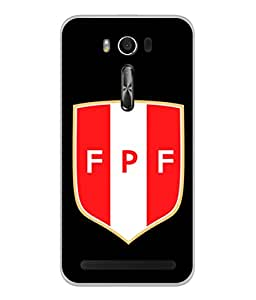 ColorKing Football Peru 08 Black shell case cover for Asus Zenfone 2 Laser ZE550KL