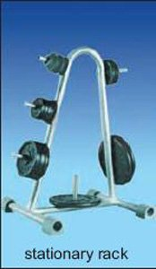 stationary disc weight rack