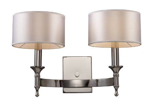 Elk 10122/2 Pembroke 2-Light Sconce In Polished Nickel