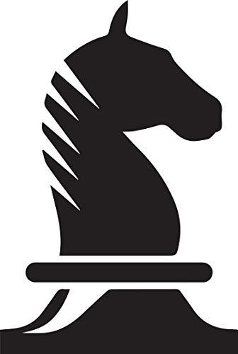 - NBFU DECALS Horse Chess (Black) (Set of 2) Premium Waterproof Vinyl Decal Stickers for Laptop Phone Accessory Helmet Car Window Bumper Mug Tuber Cup Door Wall Decoration