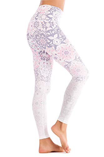 - Chisportate Women High Waist Yoga Legging Power Flex Tummy Control Workout Stretch Sport Yoga Pants for Gym Exercise Fitness Pink