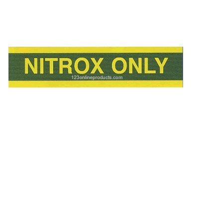 Trident Nitrox Only Pony Bottle Sticker Decals