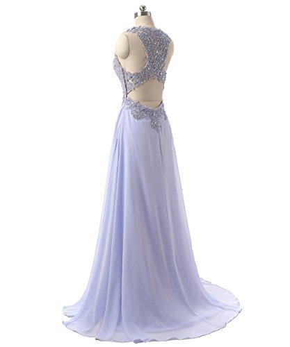 Sera Elegante da Ragazza Lungo Pizzo Cerimonia Donna Callmelady Bianca Abito Abito 8WTxnxPH