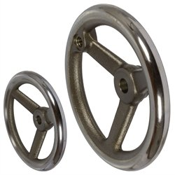 made of cast iron diameter 80mm corona turned and polished type B//G with thread hole 3 spokes Spoked handwheel DIN 950