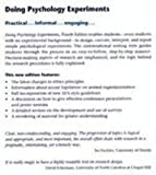 Doing Psychology Experiments, David W. Martin, 0534338402