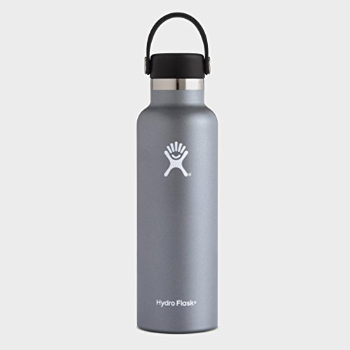 Hydro Flask Double Wall Vacuum Insulated Stainless Steel Leak Proof Sports Water Bottle, Standard Mouth with BPA Free Flex Cap