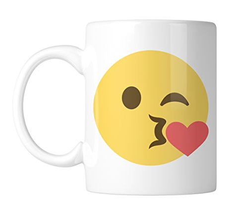 (Kissy Face Emoji 11 oz. Mug (1)